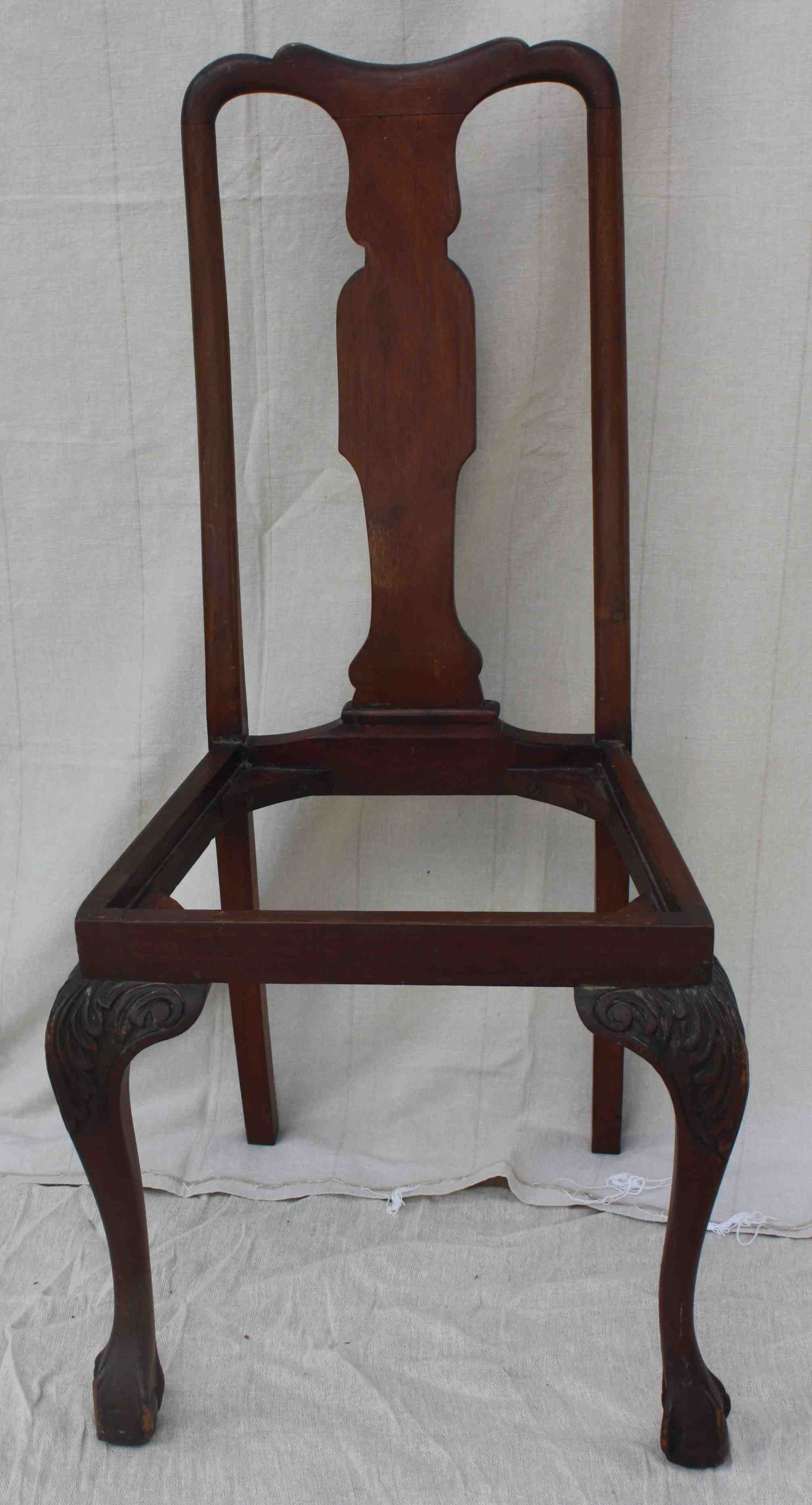 Picture of: Queen Anne Dining Chair Balloon Backed Dining Chair Createvintage