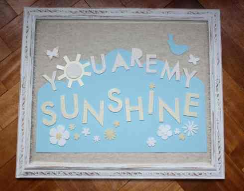 You are my Sunshine vintage framed picture by createvintage.com