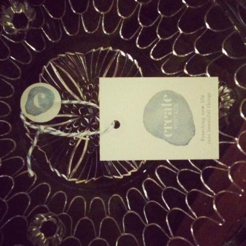 Cute little pressed glass cake plate