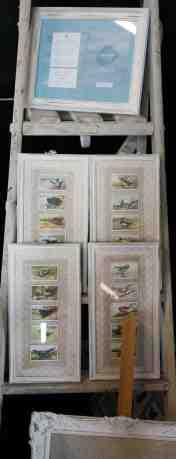 Handmade pictures in vintage frames