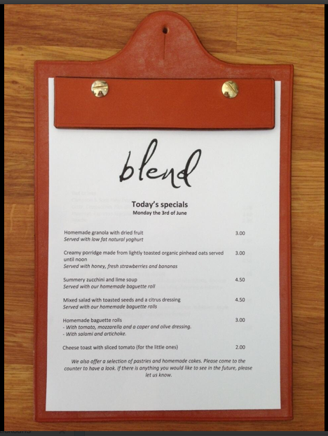 The ever-changing menu