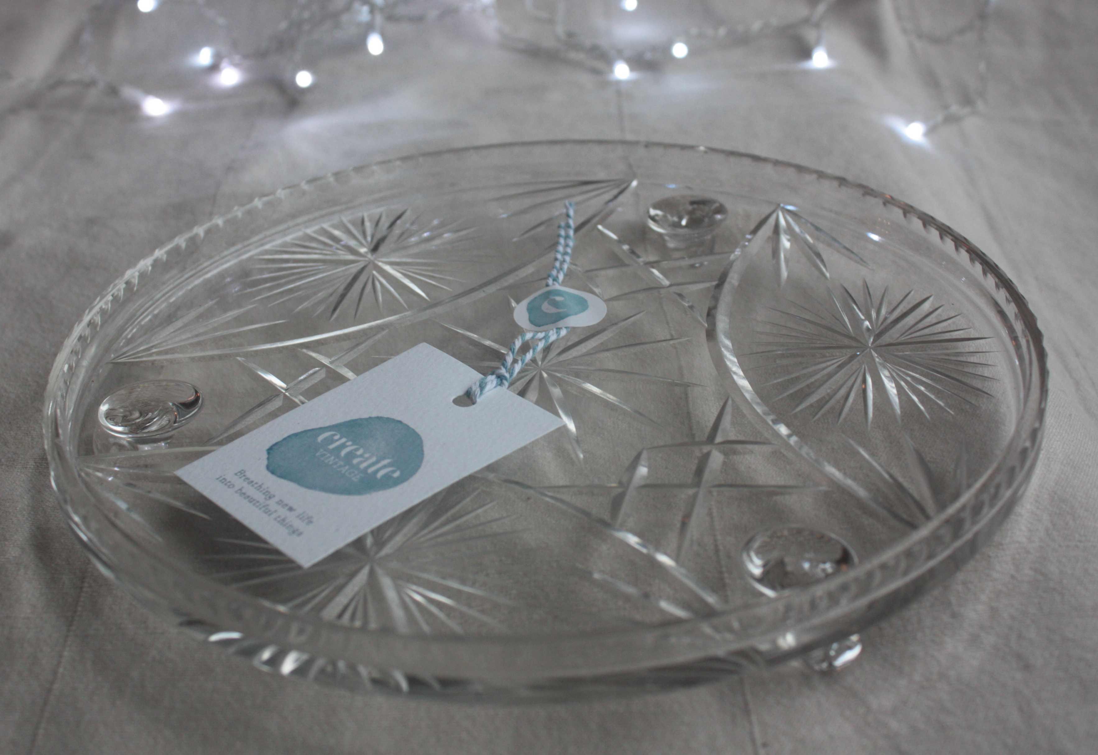 Cut Glass Cake Plates