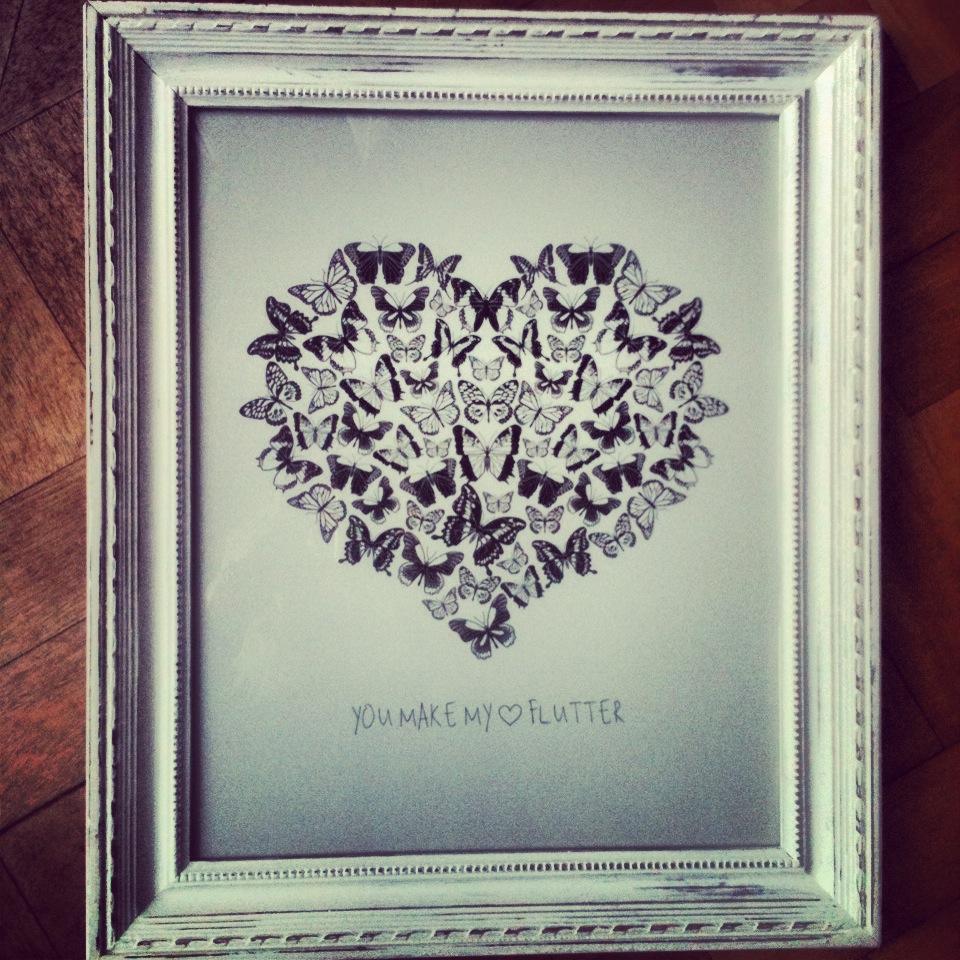 you make my heart flutter | createvintage