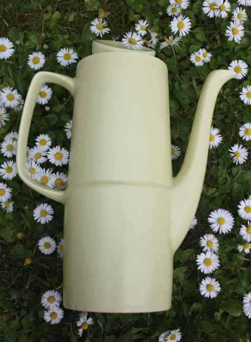 Vintage Art Deco style yellow coffee pot