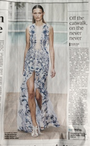 A Julien Macdonald design for this year's fashion week