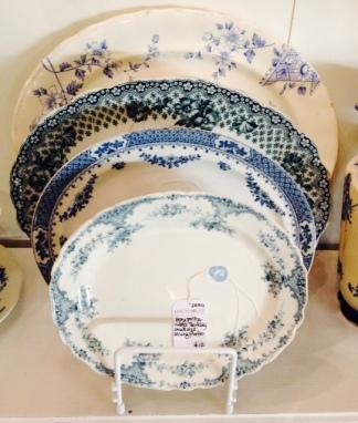 blue platters display