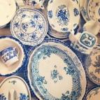 blue platters
