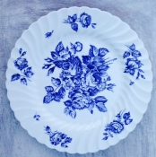 floral plate