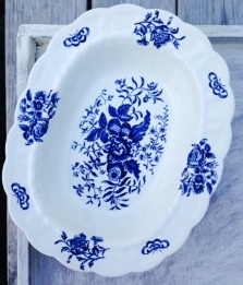 French blue serving dish 1